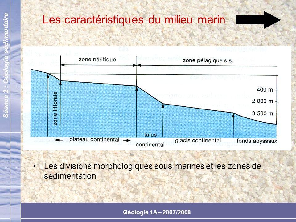 Les caractéristiques du milieu marin