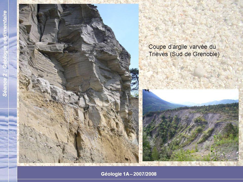 Coupe d'argile varvée du Trièves (Sud de Grenoble)