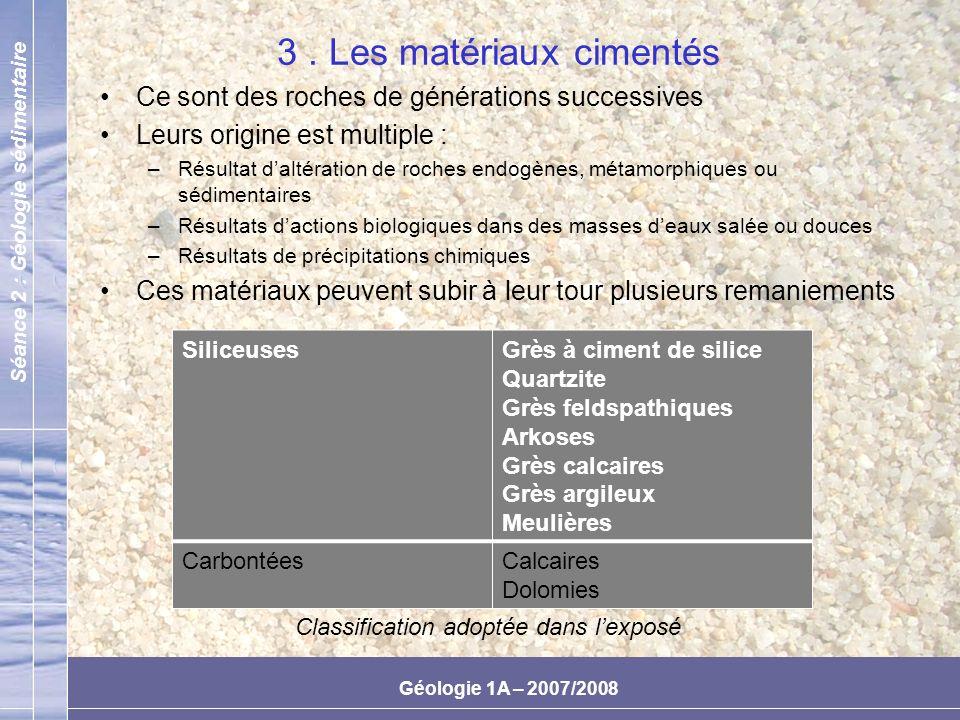 3 . Les matériaux cimentés