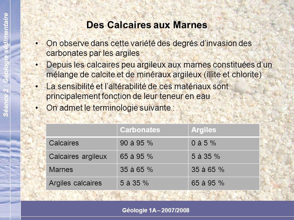 Des Calcaires aux Marnes