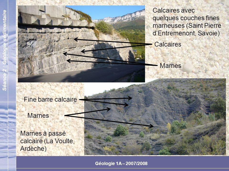 Calcaires avec quelques couches fines marneuses (Saint Pierre d'Entremenont, Savoie)