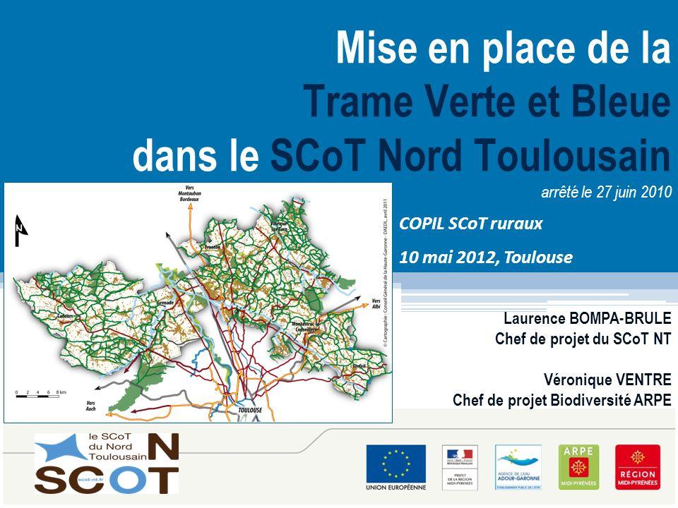 Mise en place de la Trame Verte et Bleue dans le SCoT Nord Toulousain arrêté le 27 juin 2010