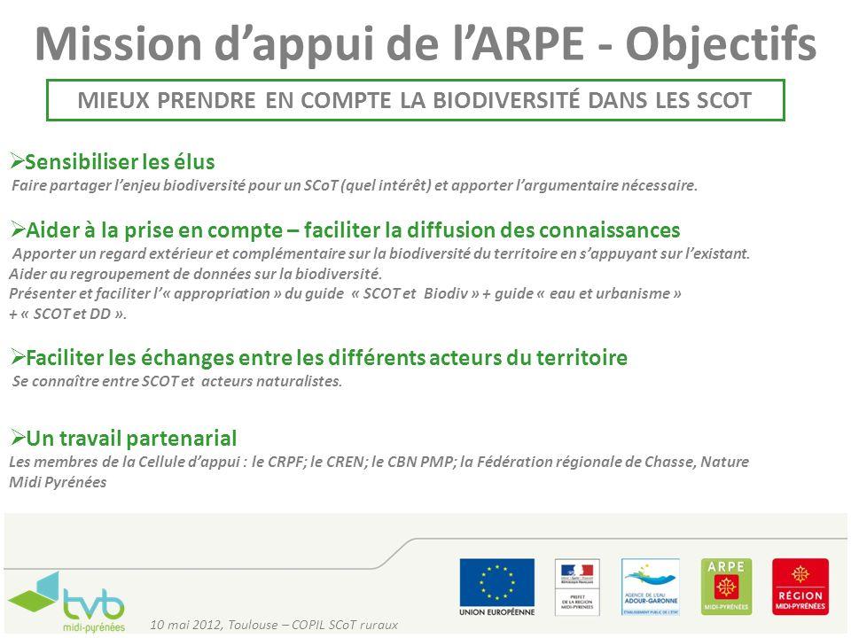 Mission d'appui de l'ARPE - Objectifs
