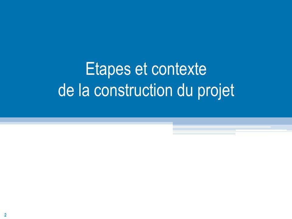 Etapes et contexte de la construction du projet