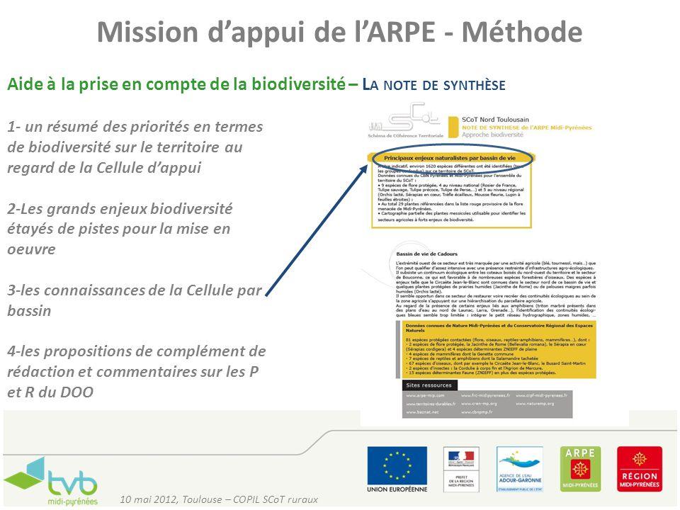 Mission d'appui de l'ARPE - Méthode