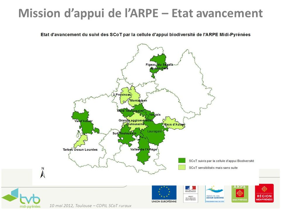 Mission d'appui de l'ARPE – Etat avancement