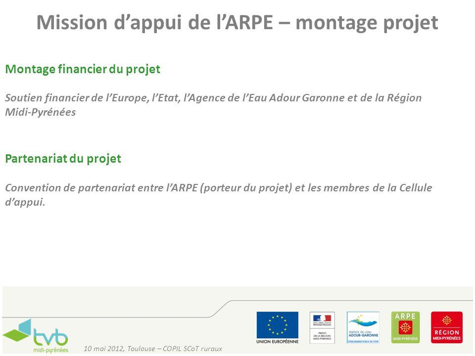 Mission d'appui de l'ARPE – montage projet