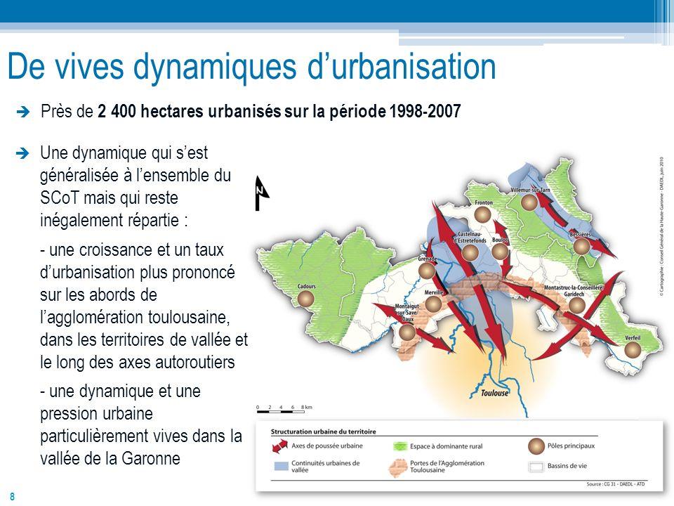 De vives dynamiques d'urbanisation