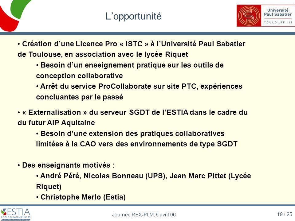L'opportunité Création d'une Licence Pro « ISTC » à l'Université Paul Sabatier de Toulouse, en association avec le lycée Riquet.