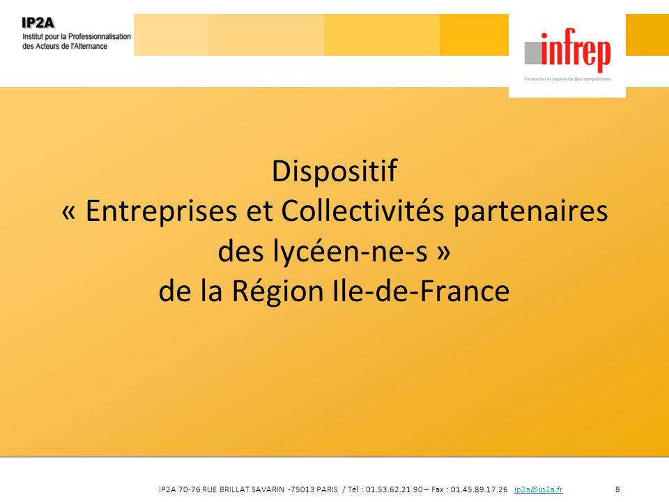 Dispositif « Entreprises et Collectivités partenaires des lycéen-ne-s » de la Région Ile-de-France