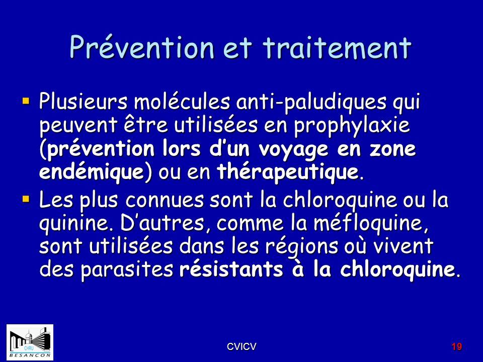 Prévention et traitement