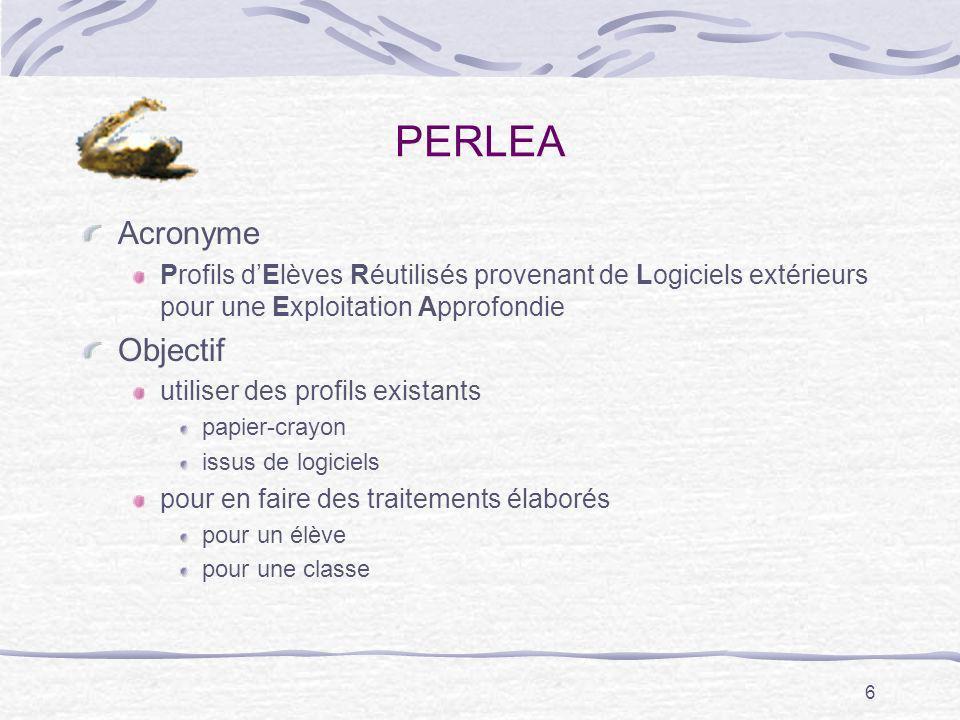 PERLEA Acronyme Objectif