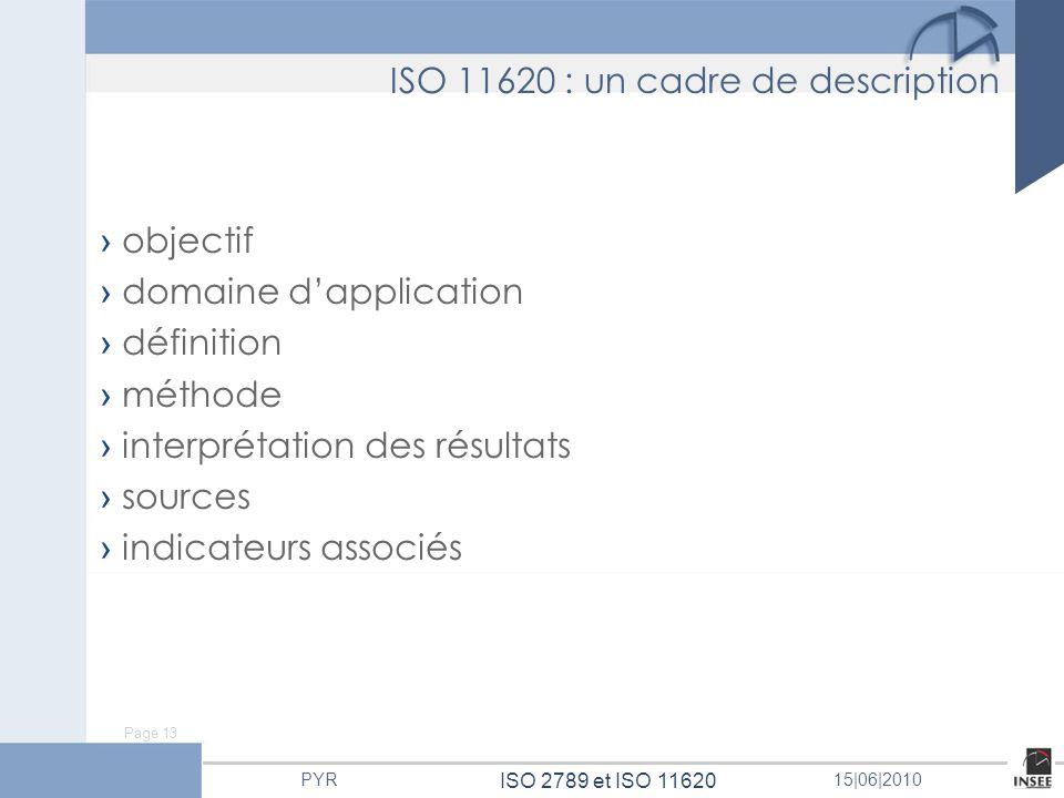 ISO 11620 : un cadre de description