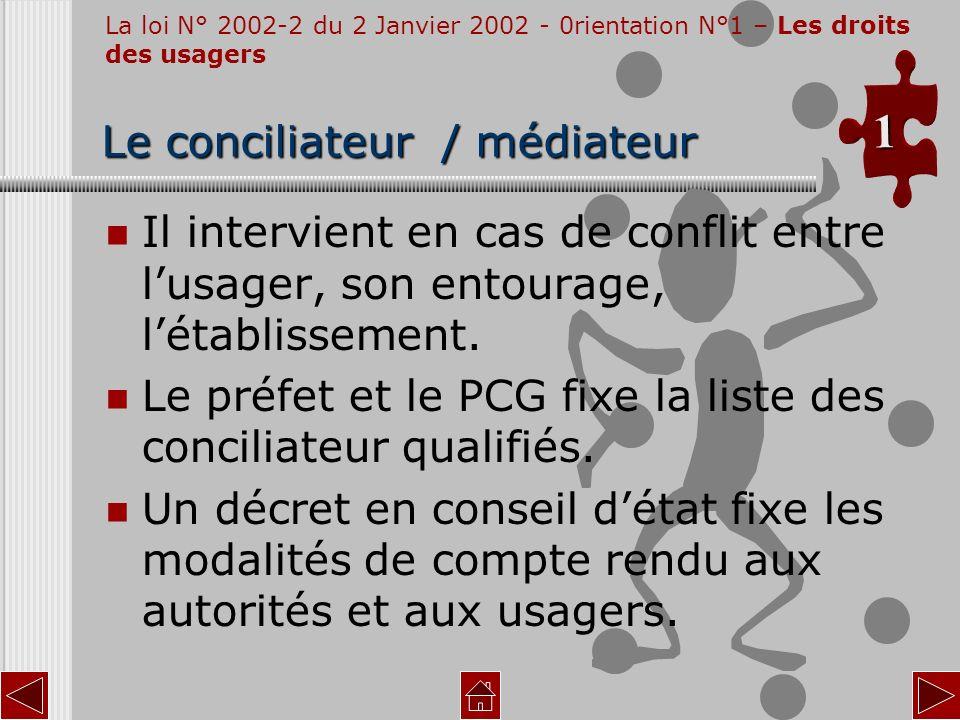 Le conciliateur / médiateur