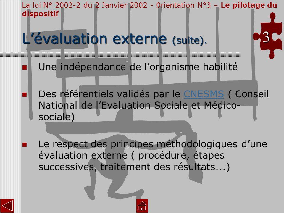 L'évaluation externe (suite).