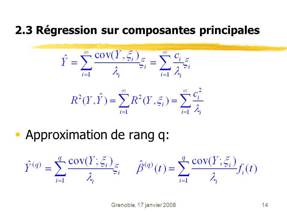Approximation de rang q:
