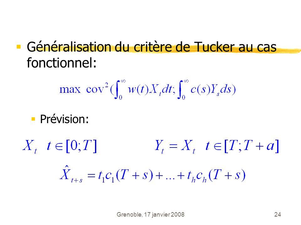 Généralisation du critère de Tucker au cas fonctionnel: