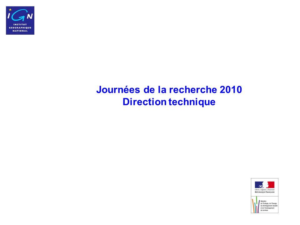 Journées de la recherche 2010