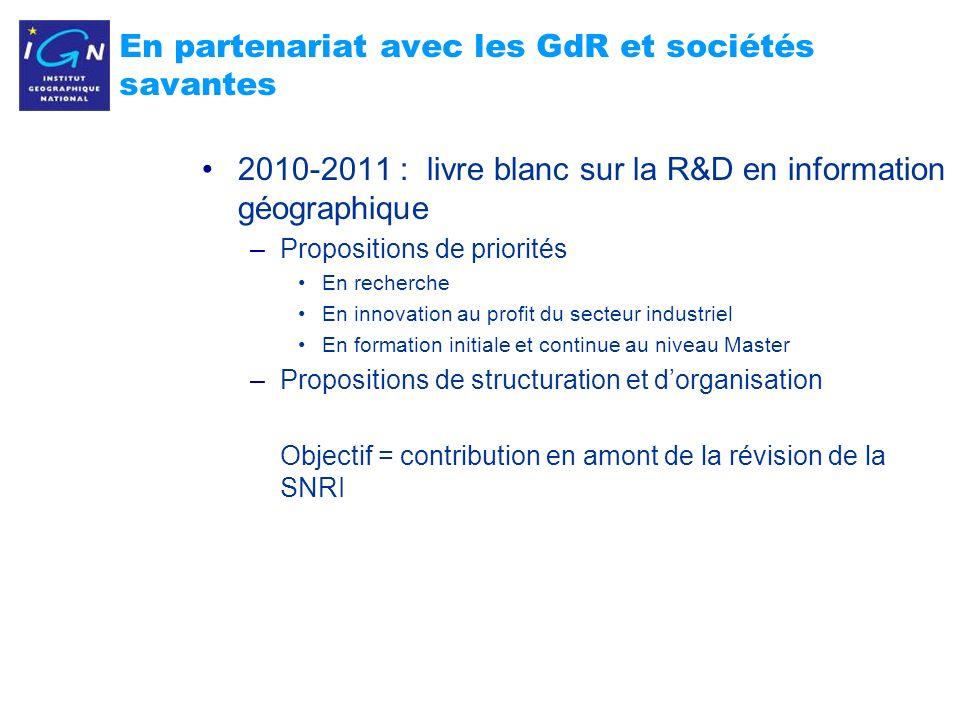 En partenariat avec les GdR et sociétés savantes