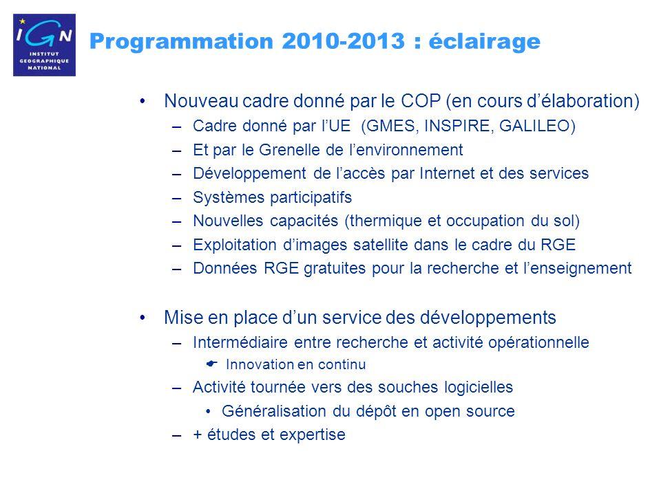 Programmation 2010-2013 : éclairage