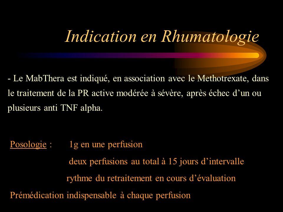 Indication en Rhumatologie