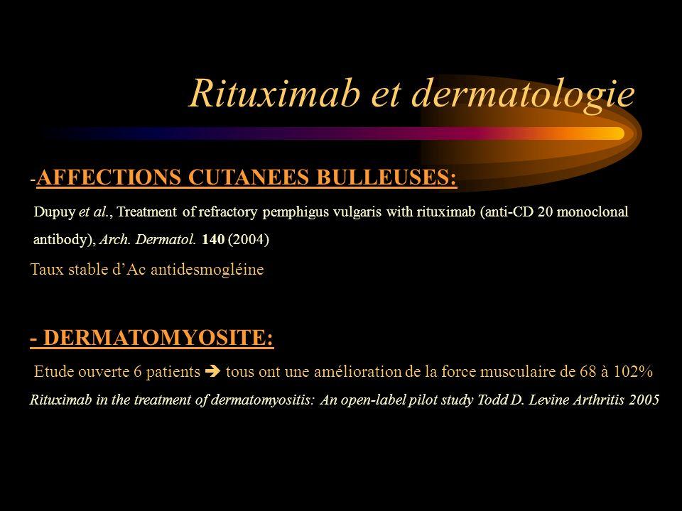 Rituximab et dermatologie