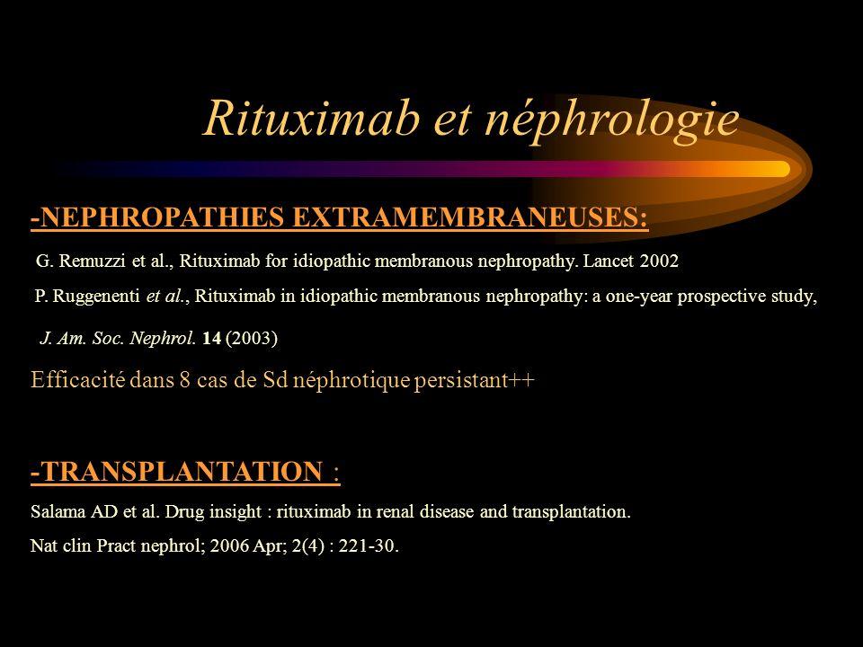 Rituximab et néphrologie