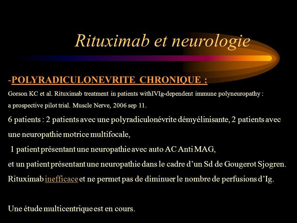 Rituximab et neurologie