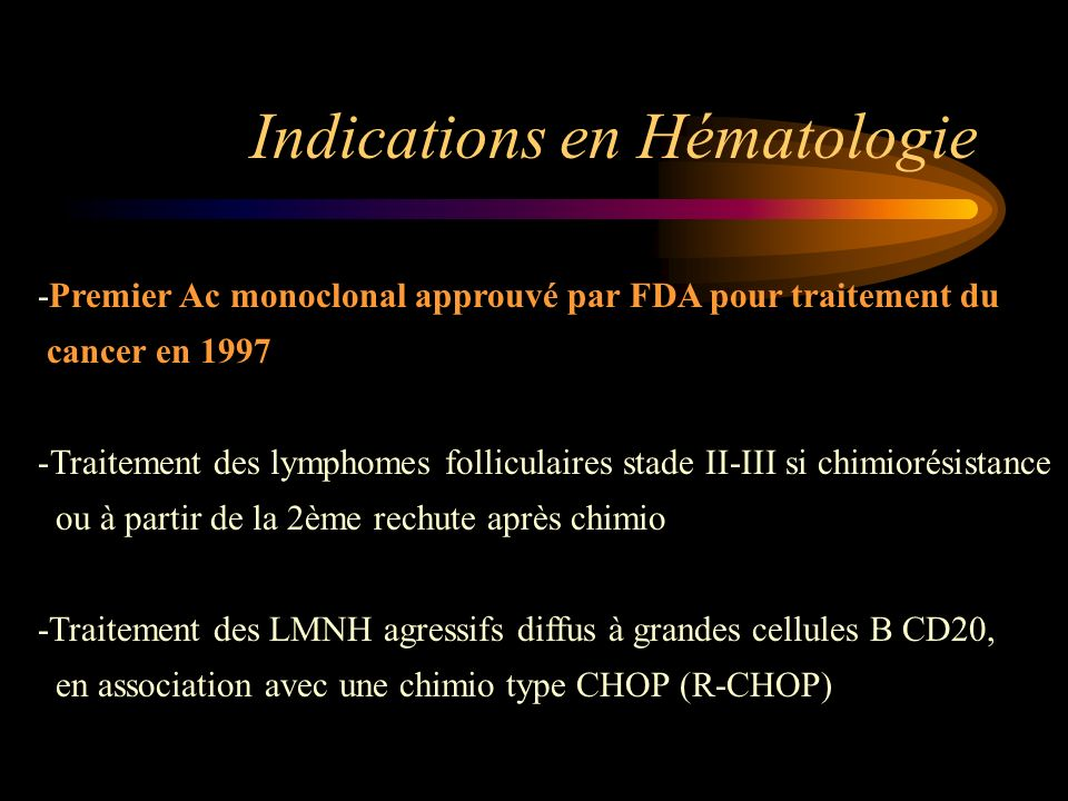 Indications en Hématologie