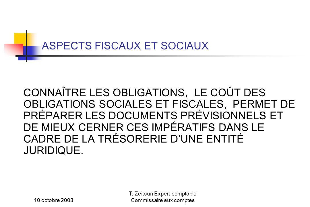 ASPECTS FISCAUX ET SOCIAUX