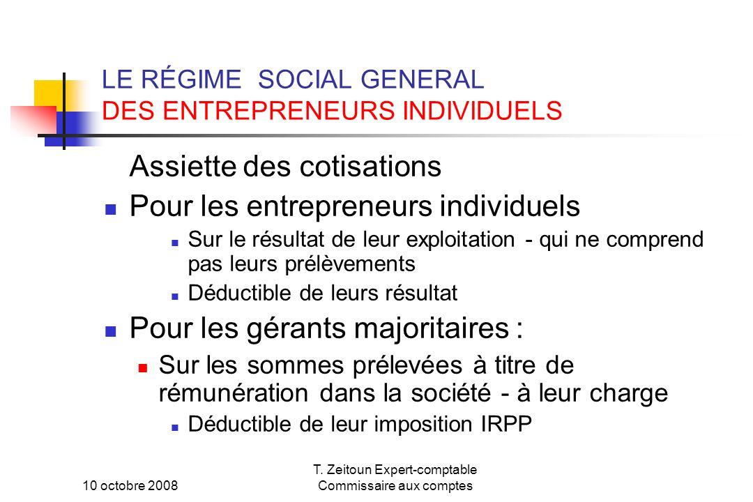 LE RÉGIME SOCIAL GENERAL DES ENTREPRENEURS INDIVIDUELS