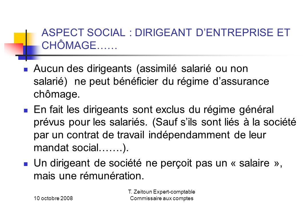 ASPECT SOCIAL : DIRIGEANT D'ENTREPRISE ET CHÔMAGE……