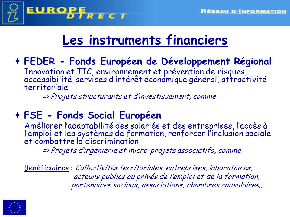 Les instruments financiers