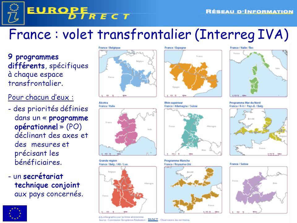 France : volet transfrontalier (Interreg IVA)