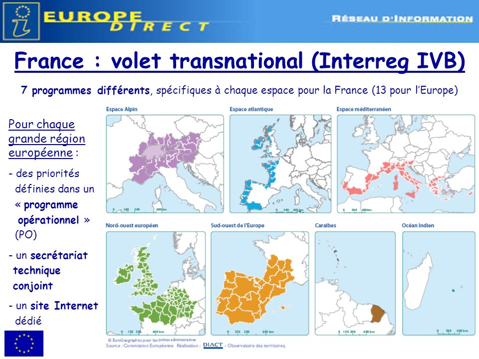 France : volet transnational (Interreg IVB)
