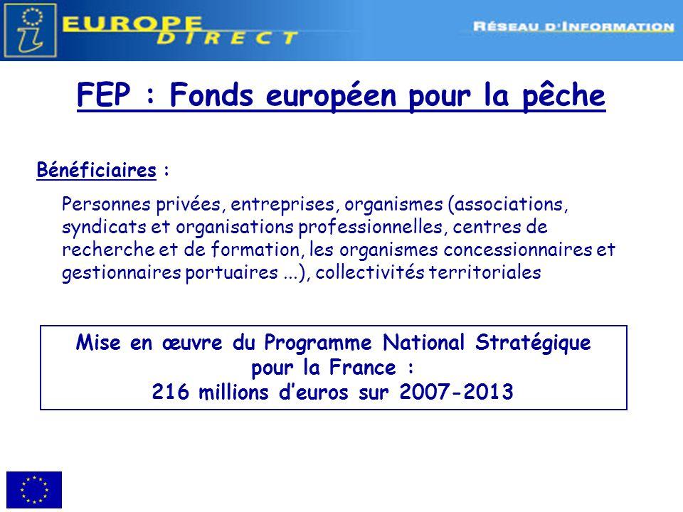 FEP : Fonds européen pour la pêche