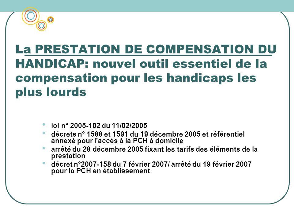 La PRESTATION DE COMPENSATION DU HANDICAP: nouvel outil essentiel de la compensation pour les handicaps les plus lourds