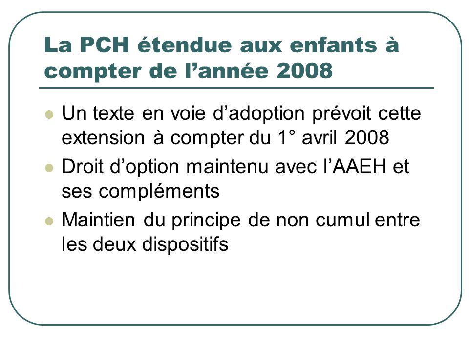 La PCH étendue aux enfants à compter de l'année 2008