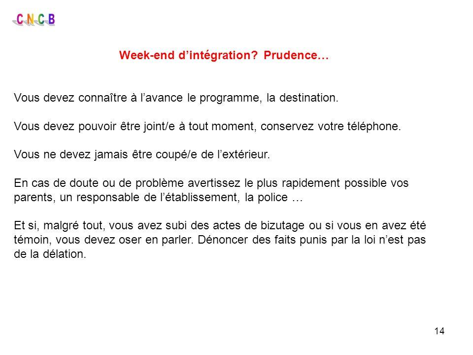 Week-end d'intégration Prudence…