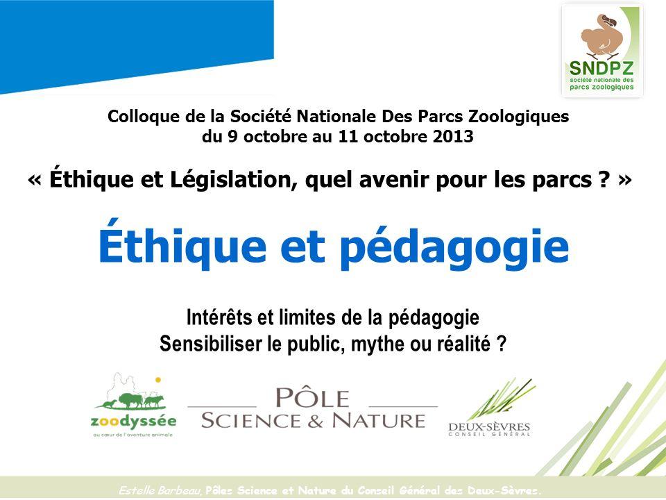 Colloque de la Société Nationale Des Parcs Zoologiques