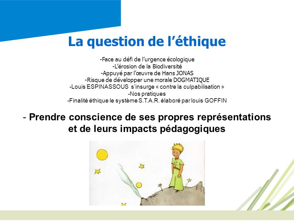 La question de l'éthique et de leurs impacts pédagogiques