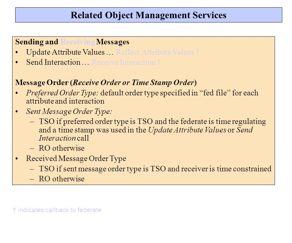 Related Object Management Services