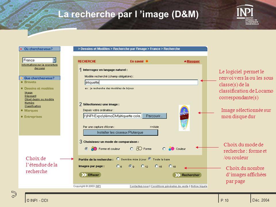 La recherche par l 'image (D&M)