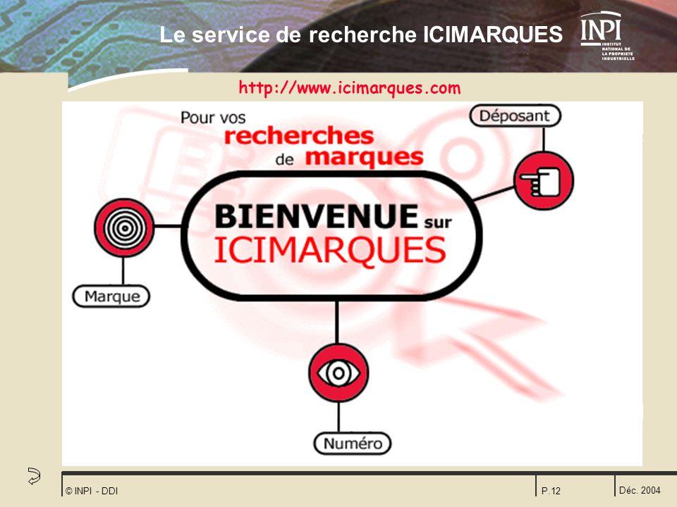 Le service de recherche ICIMARQUES