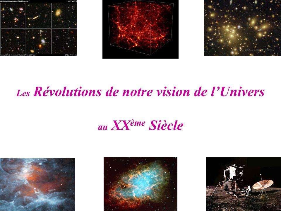 Les Révolutions de notre vision de l'Univers