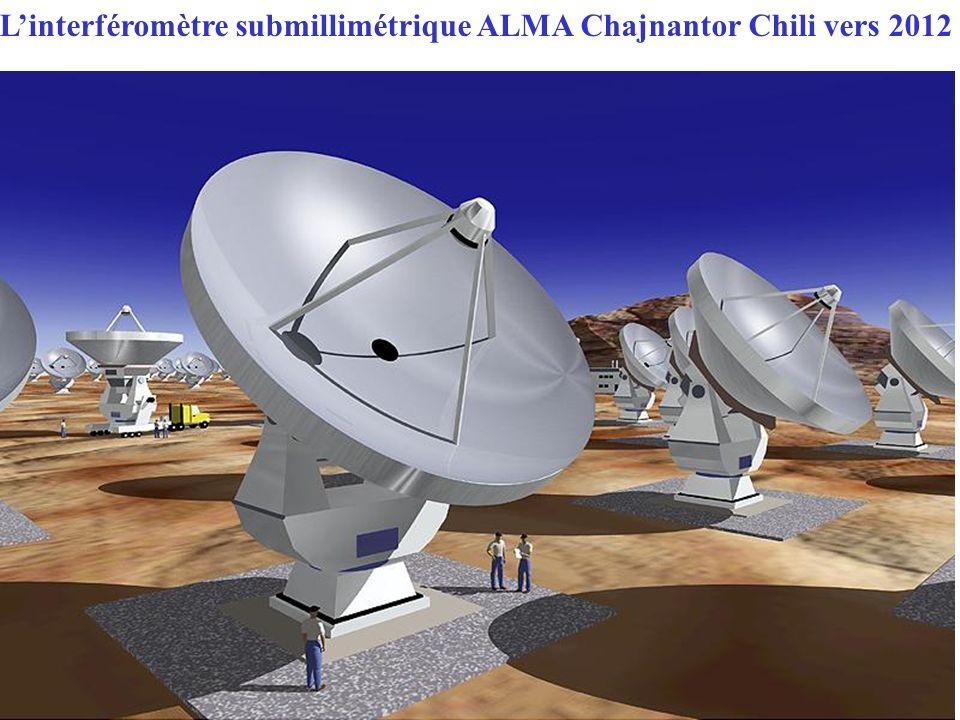 L'interféromètre submillimétrique ALMA Chajnantor Chili vers 2012