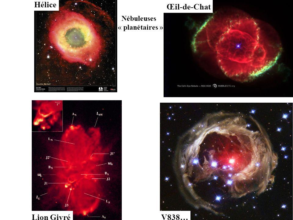 Hélice Œil-de-Chat Nébuleuses « planétaires » Lion Givré V838…