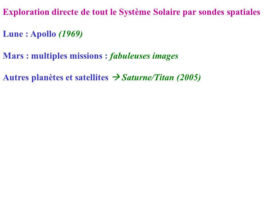 Exploration directe de tout le Système Solaire par sondes spatiales
