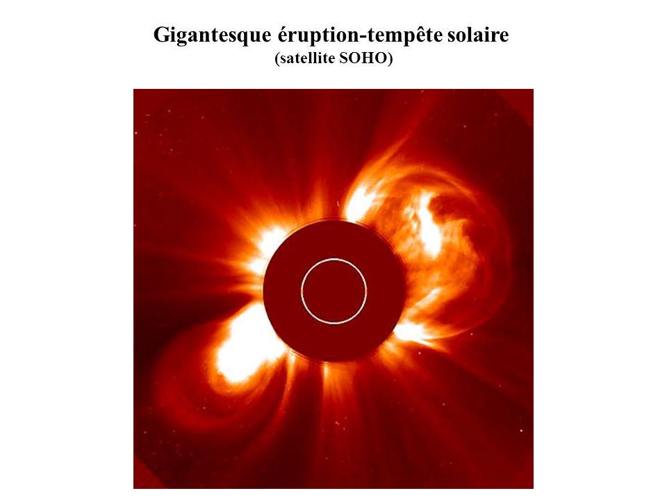 Gigantesque éruption-tempête solaire