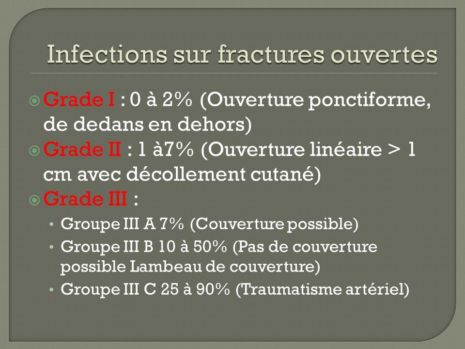 Infections sur fractures ouvertes
